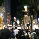 Ximending at the night, really crowded