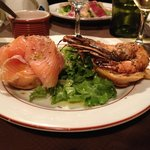 Salmon and Shrimp profiteroles ....... from heaven!!!