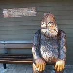 町を探索中!昼食を食べた隣のお店にある猿?