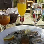 Delicious oysters at Lucy.