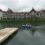 Pedal boats across the pond from The Westin