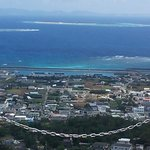 頂上から水納島方向