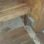 Sauna floor