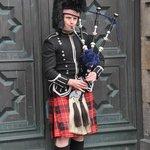 Traditional dressed scottish, Old town, Edinburgh