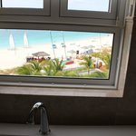 view of Grace Bay from our bathroom