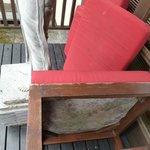 1 bedroom villa - outdoor furniture mouldy & soaked