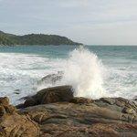 waves hitting the rocks at Mom Tri