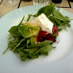 Soft cheese salad