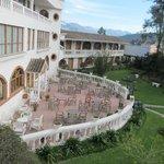 Raer patio and gardens of Posada del Quinde