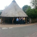 Thatched old forge shop