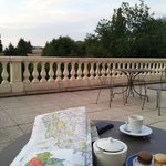 Terrace with views to Chateauneuf en Auxois