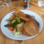 roast lamb lunch
