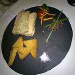 Second restaurant, entrée foie gras