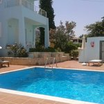 beautiful large pool with a lovely warm shallow pool attached