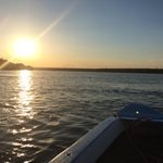 Sunset on the boat ride