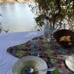 Picnic lunch at an island in the Zambezi