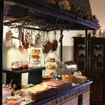 le buffet du petit déjeuné à l'hôtel Altberlin