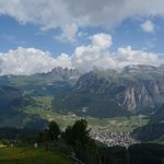 the village of Selva di Val Gardena, from the Ciampioni chairlift