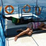 Sleep on the boat