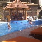 la pileta del Plaza Hotel