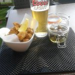 Cheeky bit of tapas and an ice cold pint on the roof terrace
