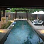 Private pool at spa villa