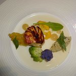 Scallop and broccoli