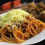 Spaghetti and chicken