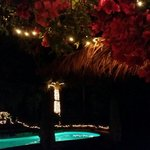 Pool at night from the terrace