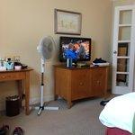 Fan in the very hot bedroom!