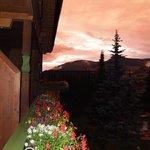 foto dal balcone posto davanti alla casa
