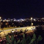 Uitzicht over Platja D'Aro en de snelweg.