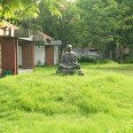 The Mahatma at peace!