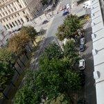 Aussicht vom Balkon Junior-Suite zum Schottentor