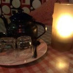 Tea with candle light