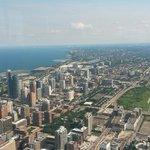 Skyline Chicago aus dem 103. Stockwerk des skydeck