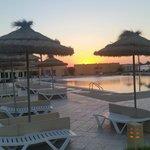 quiet pool at dusk