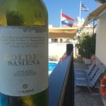 Dry moscato from our terras near the pool