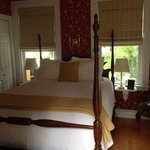 Our charming room. We even had our own large private balcony and private entrance. The bathroom