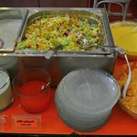 salad, sauces & desserts (2 types)