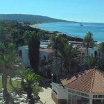 Blick aus dem Zimmer vorne raus mit der sicht auf die Strandküste