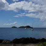 vue du restaurant sur les îles pigeon