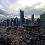 View from level 23 at Citadines on Bourke.