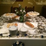 Table setting with pastries