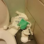 Toilets were pitiful.