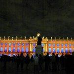 Hotel de ville sur la Place Stanislas de nuit lors du son et lumière l'été