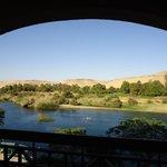 Vue de la chambre donnant sur un bras du Nil