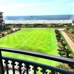 Balcony overlooking the sea