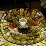 Grilled assortment of vegetables.