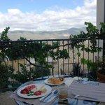 Courtyard Deck Looking Toward Mt. Meron